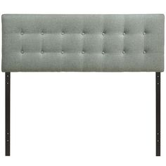 Emily Full Fabric Headboard in Gray - LexMod