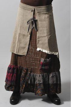 jupe-longue-marron-coton-ian-mosh