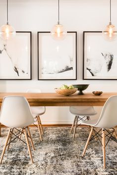 Get inspired by Modern Dining Room Design photo by Room Ideas. Wayfair lets you find the designer products in the photo and get ideas from thousands of other Modern Dining Room Design photos. Decor, Dining Room Design, Room Inspiration, Dining Room Inspiration, Dining Room Decor, House Interior, Dining Room Walls, Modern Dining Room, Room Decor