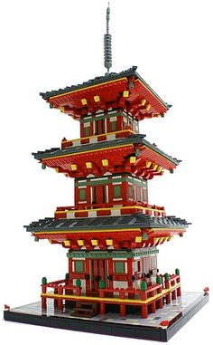 LEGO Kiyomizudera Temple in Kyoto. I would so love to build this! ~sjf - LEGO Kiyomizudera Temple in Kyoto. I would so love to build this! ~sjf Informations About LEGO Kiyom - Lego Design, Kyoto, Japanese Pagoda, Lego Sculptures, All Lego, Lego Lego, Lego Moc, Culture Art, Amazing Lego Creations