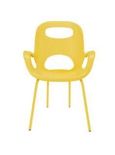 Set 4 sedie karim rashid oh chair giallo jasmine umbra
