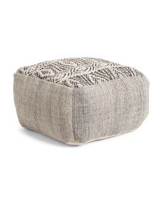 Made In India Tweed Wool Pouf