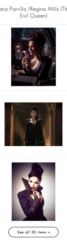 """Lana Parrilla /Regina Mills (The Evil Queen)"" by c-a-marie2000 ❤ liked on Polyvore featuring once upon a time, ouat, people, pictures, regina, lana parrilla, hair, faces, alters and evil queen"