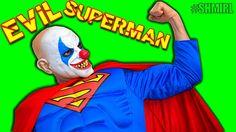 Crazy Clown Superman In Real Life! Fun Superhero Movie - SHMIRL