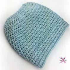 Simplicity Bun Hat, free crochet pattern by Celina Lane, CraftCoalition.com