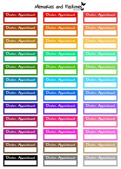 Doctor Appointment Planner Sticker Set