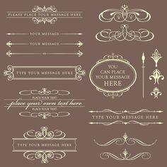 Vintage Classic Clip Art Victorian Elegant Calligraphy Decoration BEIGE DIY Wedding Invitation Text Dividers Oval Digital Frame Labels 10357. $6.50, via Etsy.