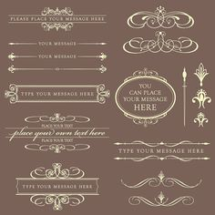Vintage Classic Clip Art Victorian Elegant Calligraphy Decoration BEIGE DIY Wedding Invitation Text Dividers Oval Digital Frame Labels 10357. $6.50, via Etsy.