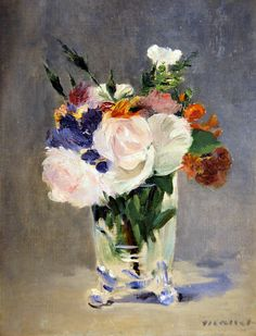 Manet - Flowers In A Crystal Vase