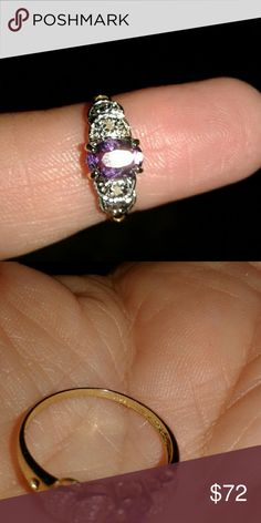 Beautiful Amethyst 10k gold ring. Solid 10k gold  Stamped 10k Amethyst  Natural stone Jewelry Rings