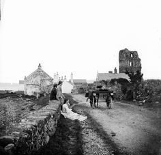 Ruins of Olderfleet Castle, Larne  Ireland ca.1860-1880