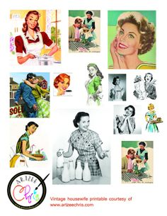 I always find the illustrations from the so funny as it portrayed a idealistic lifestyle that probably was never experienced by anyon. Retro Images, Vintage Pictures, Vintage Images, Vintage Love, Vintage Paper, Vintage Ads, Vintage Ephemera, Vintage Advertisements, Vintage Style