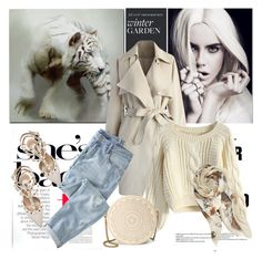 """Beige"" by nazan-m ❤ liked on Polyvore featuring Chicwish, Wrap, Modena, Valentino, T-shirt & Jeans, polyvoreeditorial and autumnstyle"
