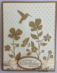 Sneak Peak from Stampin Up - Wildflower Meadow embossing folder, Wildflower Meadow stamp set, and Baked Brown Sugar (new in colour)