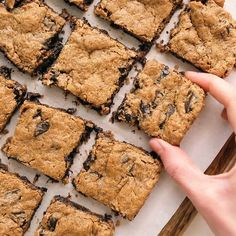 These Almond Butter Blondies are my favorite healthy dessert Since they re flourless they re naturally gluten-free vegan and Paleo friendly Be warned- they re addictive paleo vegan Paleo Dessert, Healthy Dessert Recipes, Baking Recipes, Vegan Recipes, Drink Recipes, Vegan Desert Recipes, Vegan Gluten Free Desserts, Protein Bar Recipes, Asian Desserts
