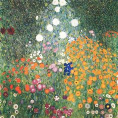 Gustav Klimt Flower Garden painting is shipped worldwide,including stretched canvas and framed art.This Gustav Klimt Flower Garden painting is available at custom size. Gustav Klimt, Art Klimt, Monet To Matisse, Canvas Wall Art, Oil On Canvas, Painting Canvas, Mural Wall, Canvas Poster, Large Canvas