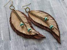 Diy earrings 546694842266720519 - Beige Leather Earrings Leather Feather Earrings Bohemian Jewelry Boho Earrings Hippie Earrings Bronze Tribal Earrings Bohemian Earrings Source by Diy Leather Earrings, Diy Earrings, Earrings Handmade, Handmade Jewelry, Tribal Earrings, Handmade Leather, Gold Earrings, Glass Earrings, Handmade Silver