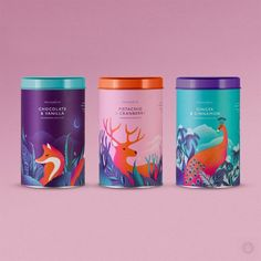 Sympathetic colors being used in packaging, very nice colors, strong hierarchy in the illustrations. There is no relationship between the product and the illustrations Tea Packaging, Food Packaging Design, Pretty Packaging, Brand Packaging, Branding Design, Product Packaging Design, Product Branding, Packaging Ideas, Design Poster