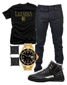 """Had To Get Em Today"" by young-rich-nvgga ❤ liked on Polyvore featuring Royalty Collection, Yves Saint Laurent, Rolex, men's fashion and menswear"