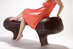 Оригинальные скульптурные лавочки от Вивьен Бир. (5 фото)