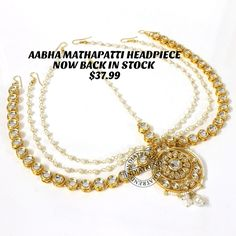 Our AABHA MATHAPATTI HEADPIECE   by Indiatrend. Shop Now at WWW.INDIATRENDSHOP.COM