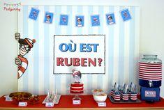 Partyummy's Birthday / Where is Wally (Waldo) - Photo Gallery at Catch My Party Shrek, 4th Birthday, Birthday Parties, Birthday Ideas, Wo Ist Walter, Ou Est Charlie, Trunk Party, Wheres Wally, Invitation