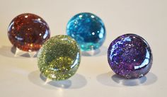 Glitter Glass Magnets & Pins by Claire of Craft Addiction. The blue is my fav! I'm def making these soon :)