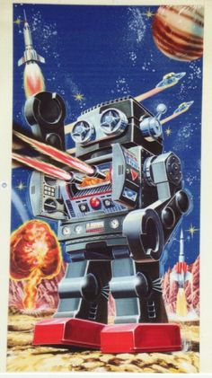 """Dedicated to all things """"geek retro:"""" the science fiction/fantasy/horror fandom of the past including pin up art, novel covers, pulp magazines, and comics. Cool Vintage, Vintage Robots, Retro Robot, Vintage Space, Vintage Toys, Steampunk, Trippy, Science Fiction, Arte Robot"""