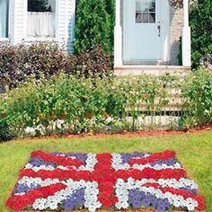Grow your own Union Jack!  This makes me wish I had my own garden...