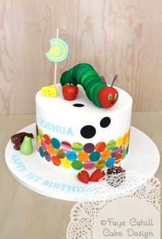 The very hungry caterpillar cake by Faye Cahill Cake Design