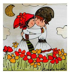 History Of Romania, Folk Fashion, Traditional Paintings, Floral Illustrations, Polymer Clay Crafts, Folk Art, Arts And Crafts, Clip Art, 1 Decembrie