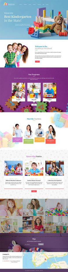 Kindergarden website inspirations at your coffee break! Browse for more WordPress #templates! // Regular price: $75 // Sources available:.PHP, This theme is widgetized #Kids #WordPress #Kindergarden #School