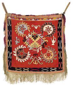 Uzbek nomads Silk Embroidery - Lakai Ilgich. Central Asia, North Afghanistan, First quarter 20th century