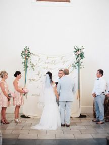 This wedding dances the line between garden and rustic;taking the natural beauty of an outdoor ceremony and pairing it with...