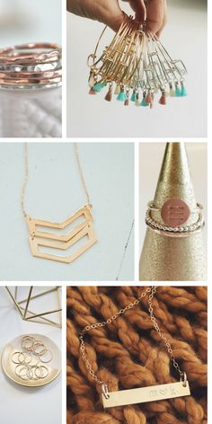 Personalized Christmas Gifts from jessicaNdesigns, Simple Jewelry, Personalized Jewelry, stacking rings, gold bar necklace, boho jewelry, bangle bracelets, necklaces, tiny rings, personalized rings, classic jewelry