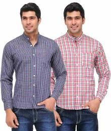 Buy Pack of 2 Casual Checkered Shirts @ Rs.599. Offer valid for today 31-3-14.