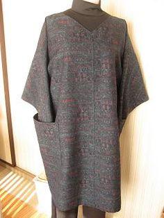 ばあばの手仕事・独り言   So-netブログ Batik Fashion, Refashion, Kimono, Denim, Sewing, Sweaters, Outfits, Clothes, Dresses