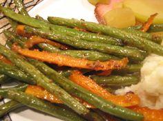 Roasted Maple Mustard Green Beans Recipe - Genius Kitchen