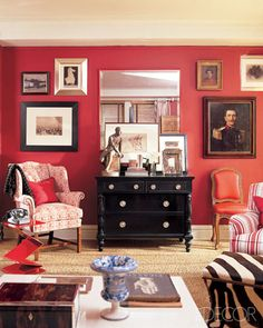 pinky gallery wall living room