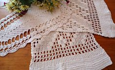 3 Crocheted Doilies Crocheted Doilys  Ecru Vintage Doilys Doilies  Lot  B271 by treasurecoveally on Etsy