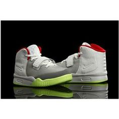 http://www.asneakers4u.com/ Nike Air Yeezy 2 Kids Shoes Wolf Grey/Pure Platinum