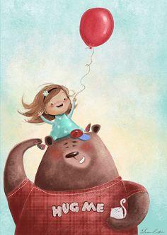 Papa bear by Susan Batori, via Behance