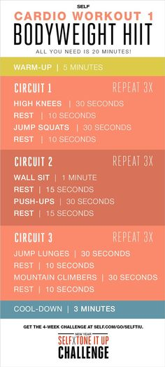 Bodyweight HIIT Cardio Workout - Self x Tone It Up Challenge