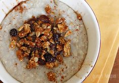 Cinnamon Apple Spiced Oatmeal | Weight Watchers Recipes