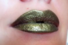 Naga - Olive green with golden shimmer Metallic Lipstick - Natural Gluten Free Fresh Handmade