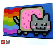 LEGO Nyan Cat 3D structure | Flickr - Photo Sharing!