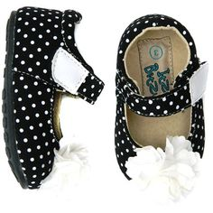 Itzy Bitzy Black and White Dot MaryJane girl's shoes on mysale.com