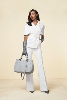 The Limited Scandal Collection Cape Trench Coat ($228) The Limited Scandal Collection Liv Flare Leg Trouser Pants ($98)