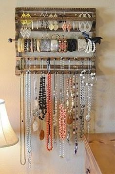 I have one of these racks and its GREAT! Best thing i ever got for my jewelry :)