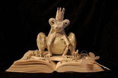 The Frog Prince book sculpture (artist: Jodi Harvey-Brown)